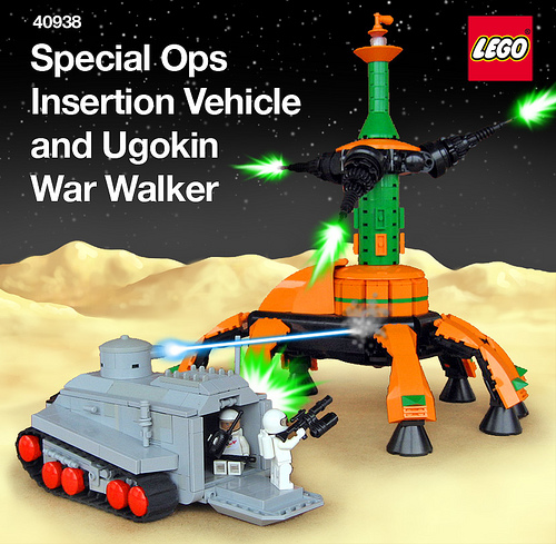 Ugokin War Walker crushing Special Operations Insertion Vehicle